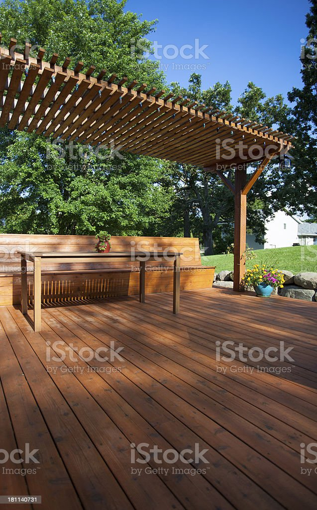Backyard Deck View royalty-free stock photo