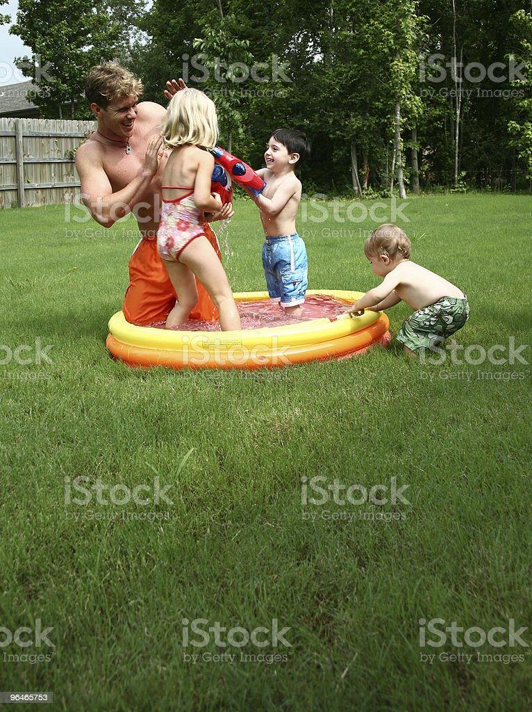 Backyard Fun royalty-free stock photo