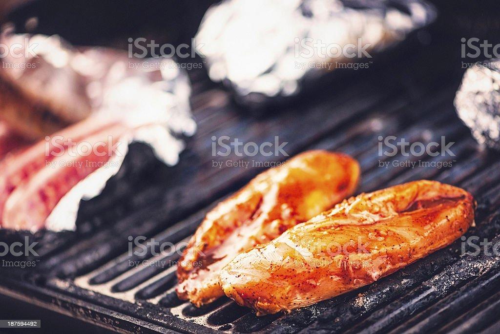 Backyard Grilling royalty-free stock photo