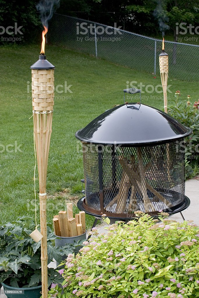 Backyard in Summer royalty-free stock photo