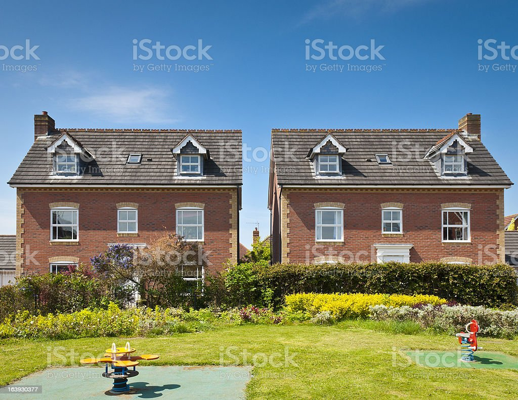 A Backyard in the suburbs for families royalty-free stock photo