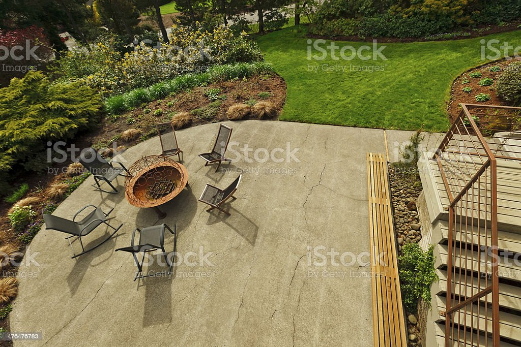 Backyard Patio royalty-free stock photo