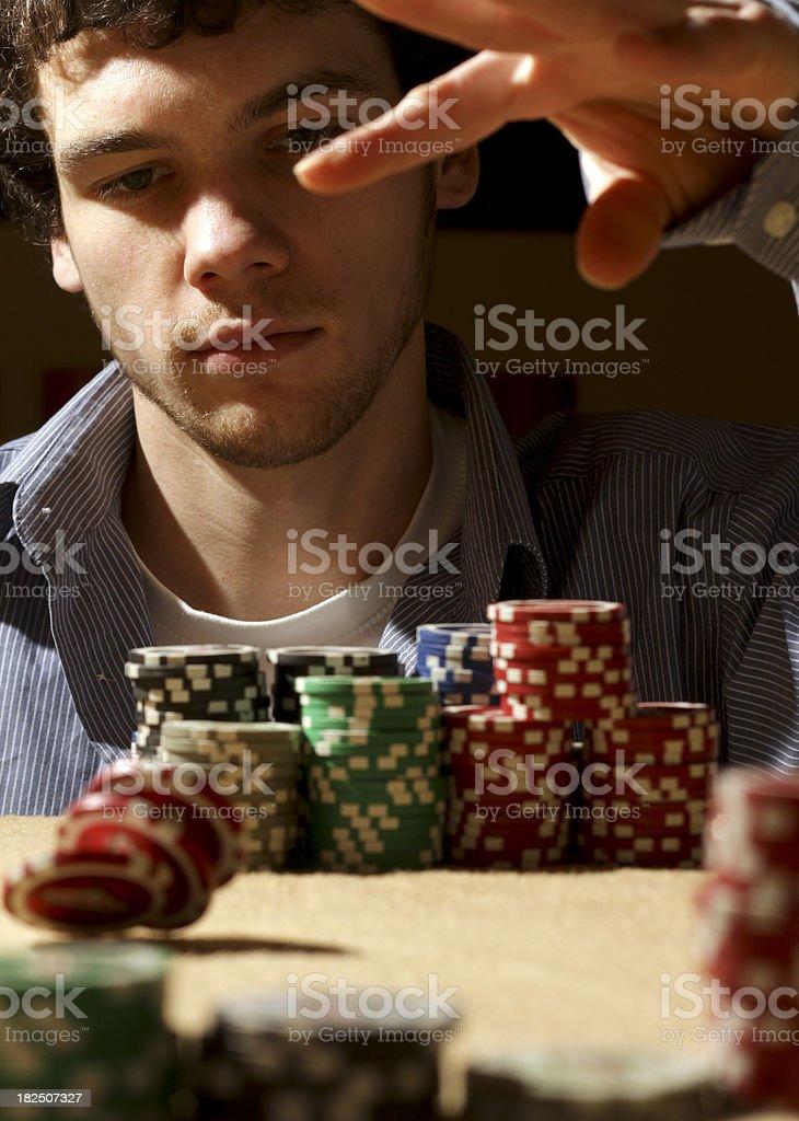 backyard poker stock photo