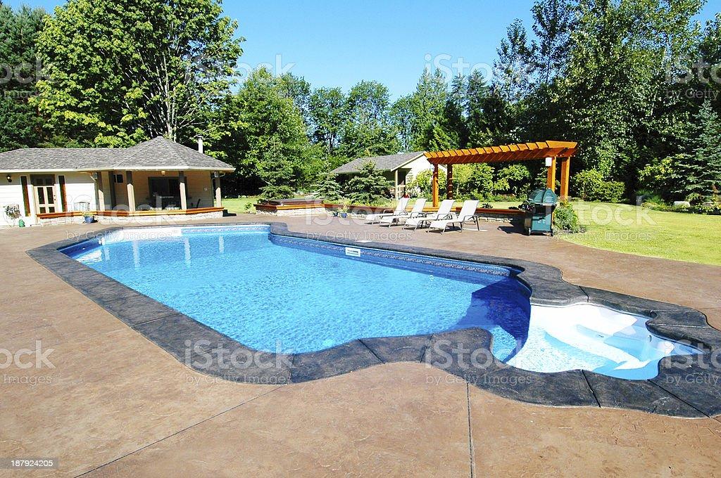 Backyard Pool royalty-free stock photo