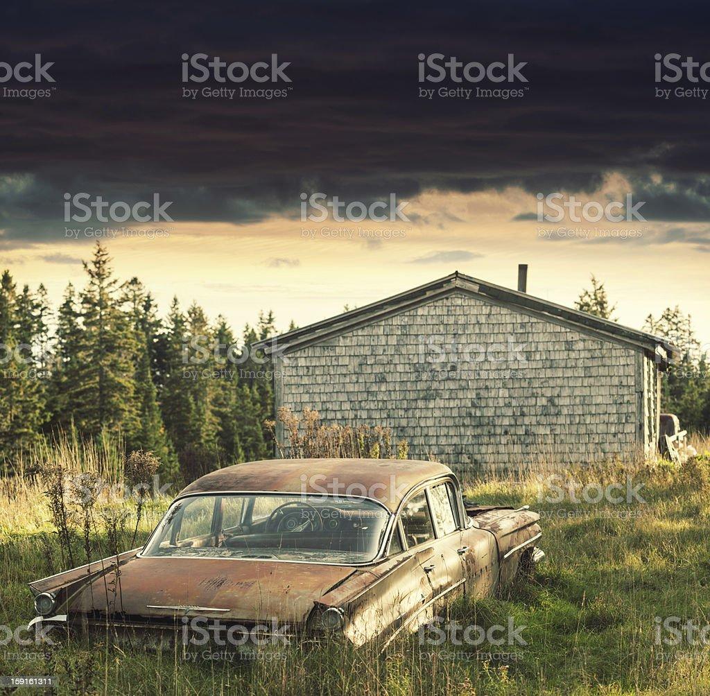 Backyard Sedan royalty-free stock photo