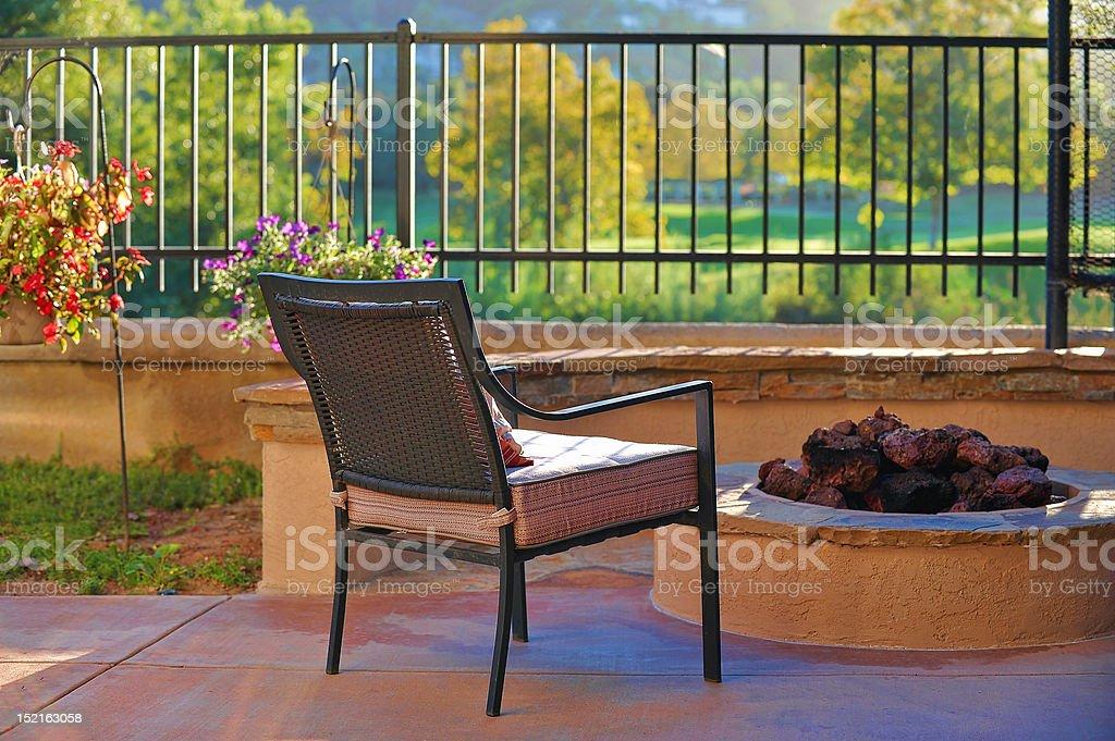 Backyard Serenity royalty-free stock photo