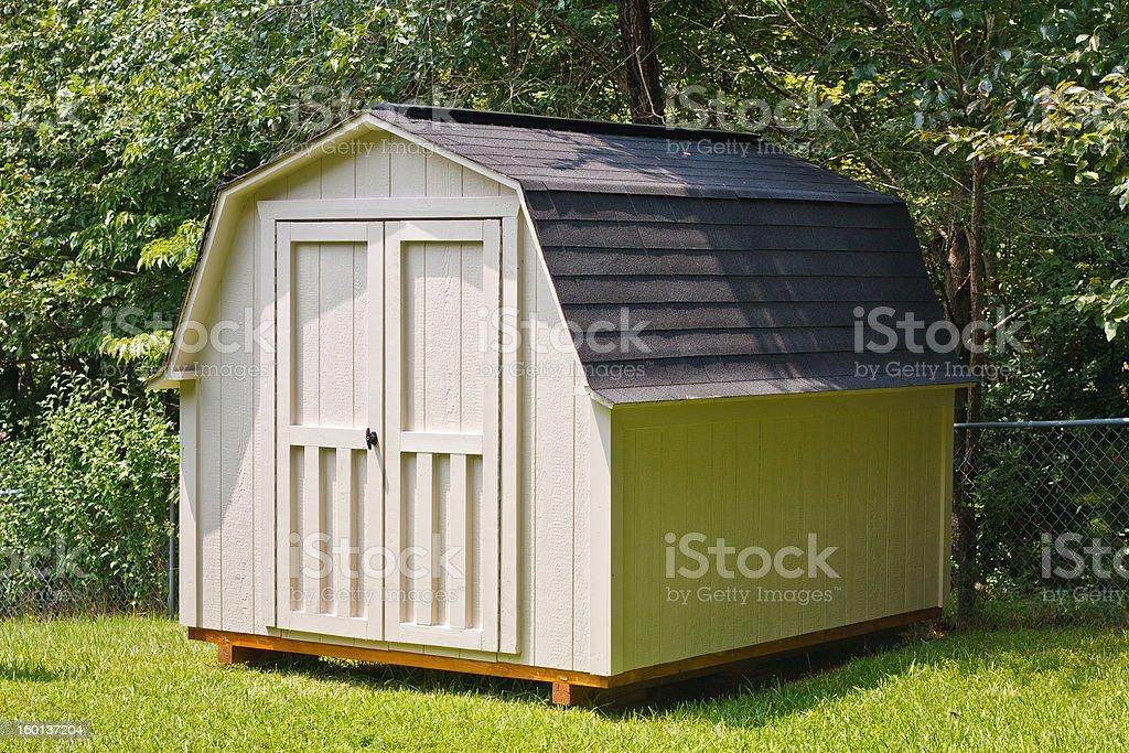 Backyard Shed stock photo