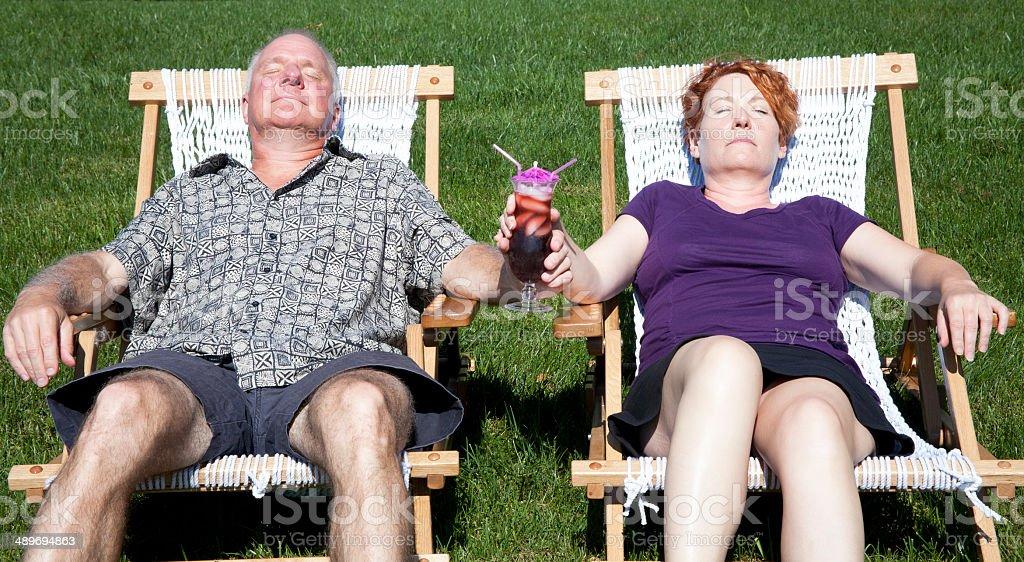 Backyard Staycation stock photo