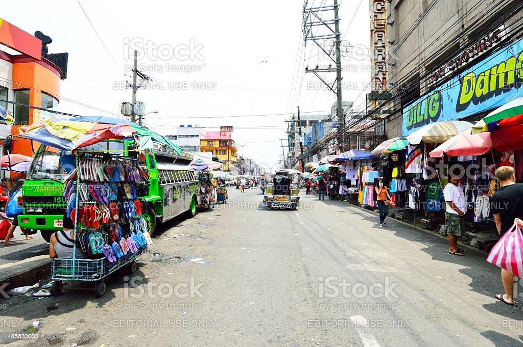Baclaran market, best bargain shopping places in Manila, Philippines royalty-free stock photo