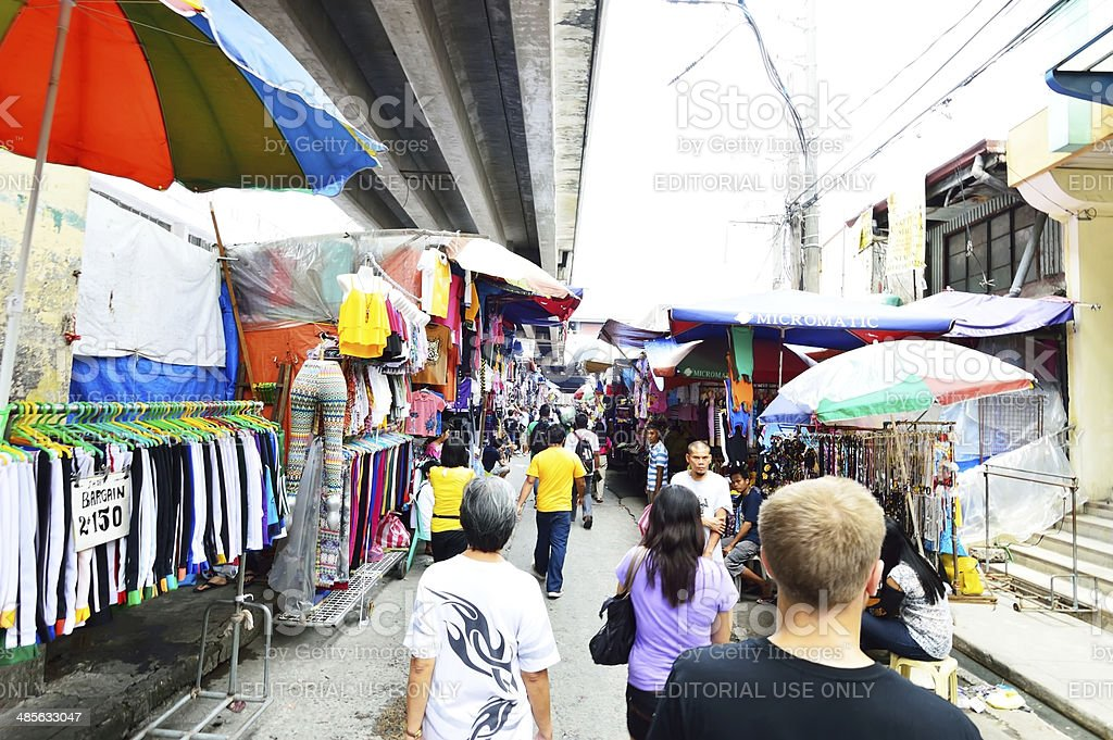 Baclaran market, best bargain shopping places in Manila, Philippines stock photo