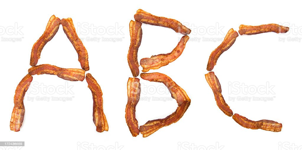 Bacon ABC stock photo