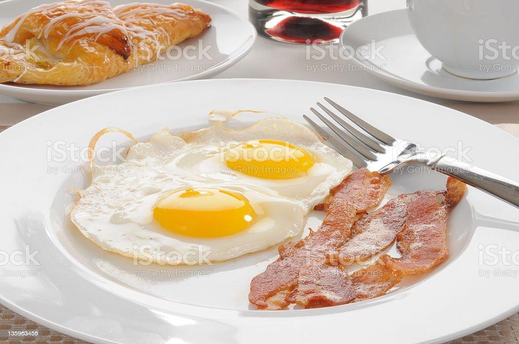 Bacon and egg breakfast royalty-free stock photo