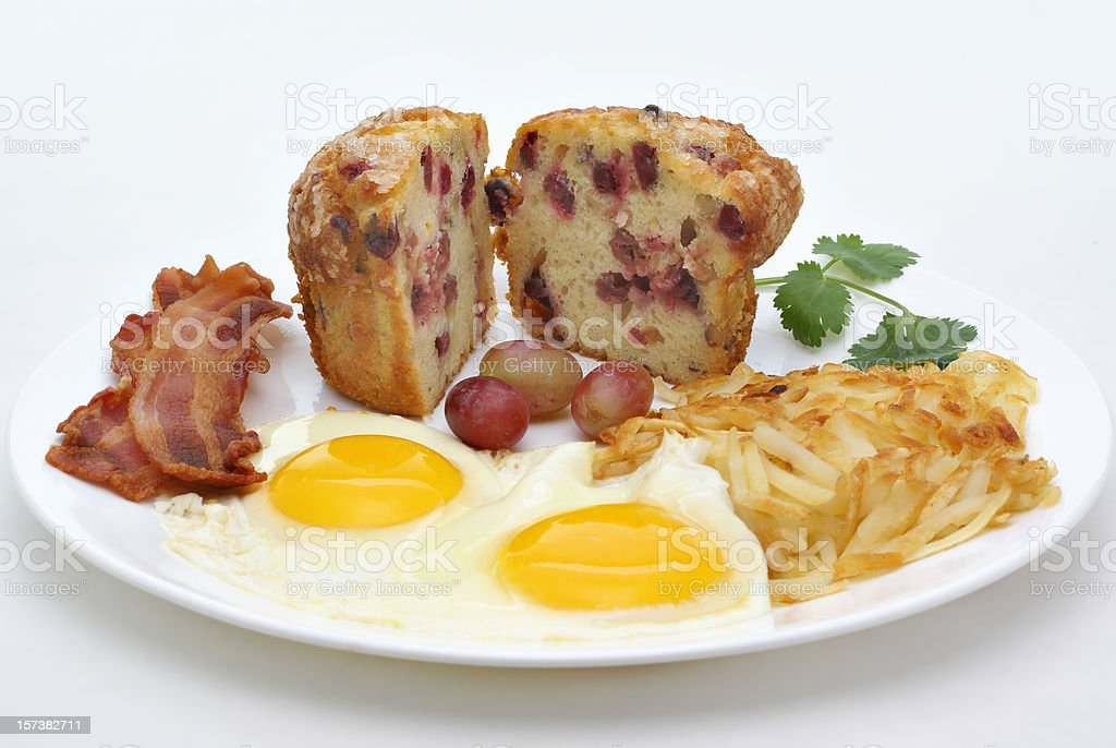 bacon and egg breakfast plate royalty-free stock photo