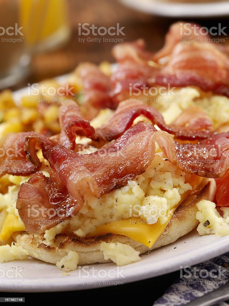 Bacon and Egg Breakfast Sandwich royalty-free stock photo