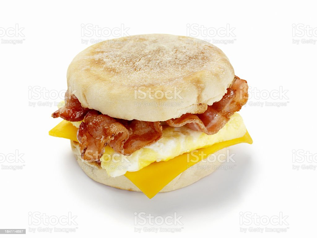 Bacon and Egg Breakfast Sandwich stock photo