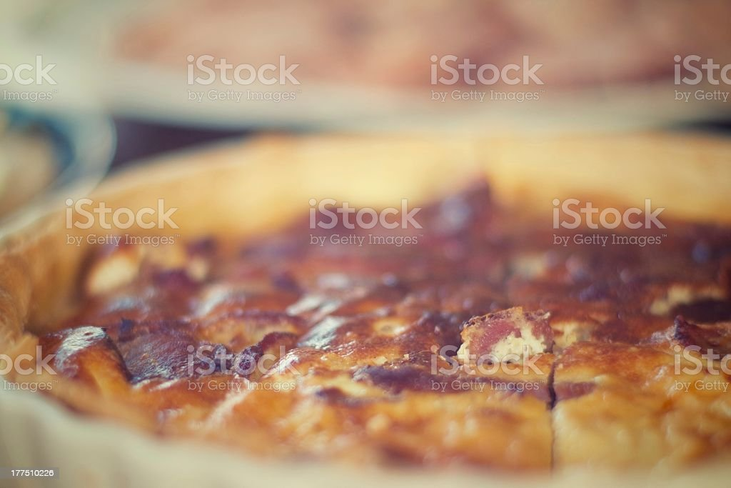 Bacon and egg quiche royalty-free stock photo