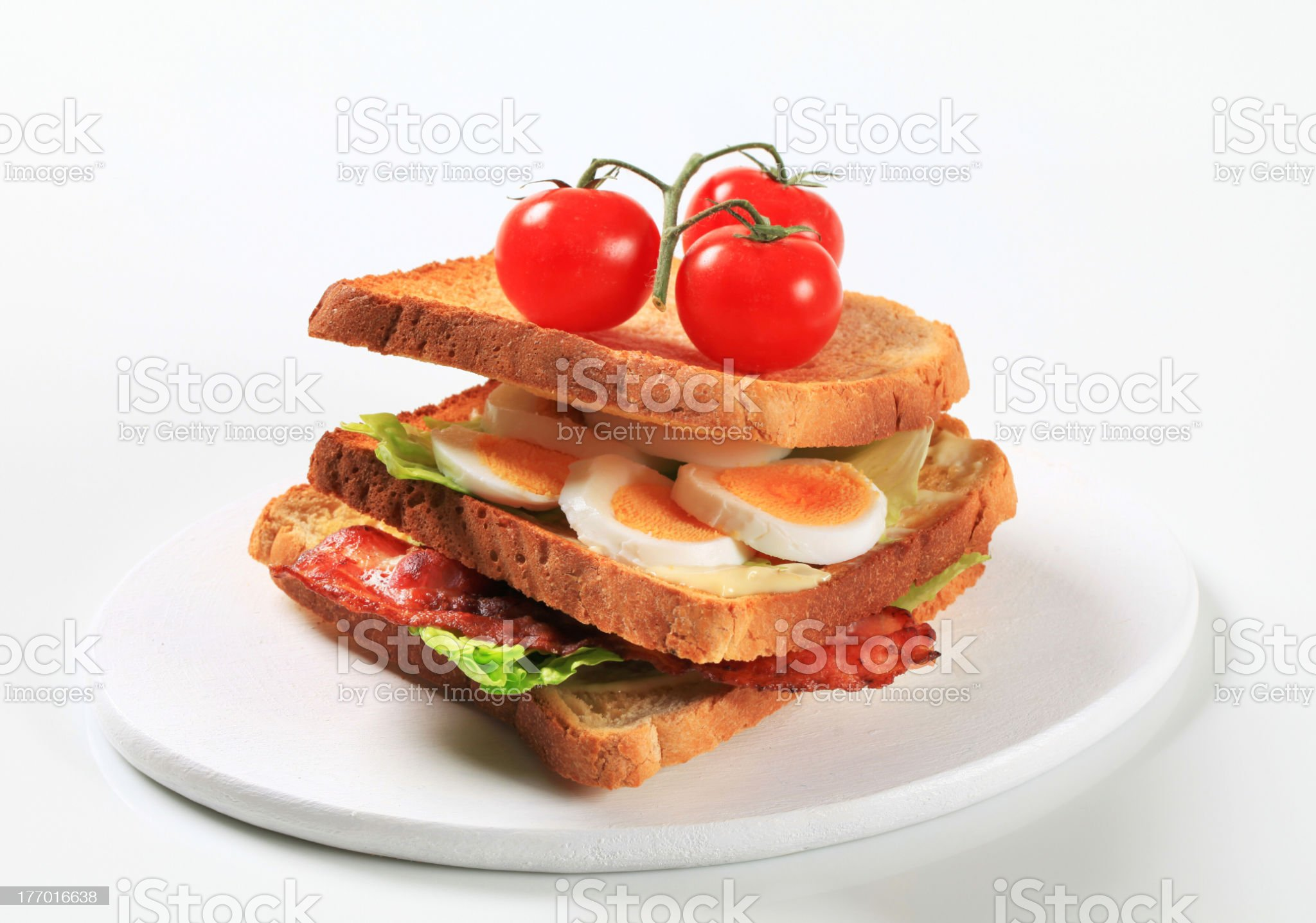 Bacon and egg sandwich royalty-free stock photo