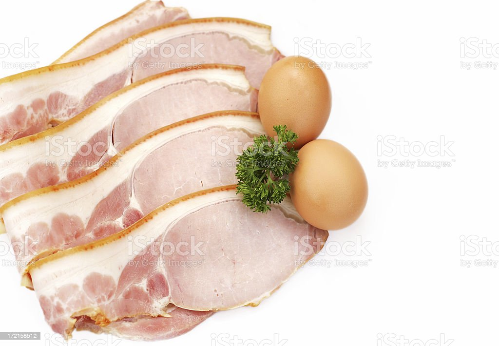 Bacon and Eggs royalty-free stock photo