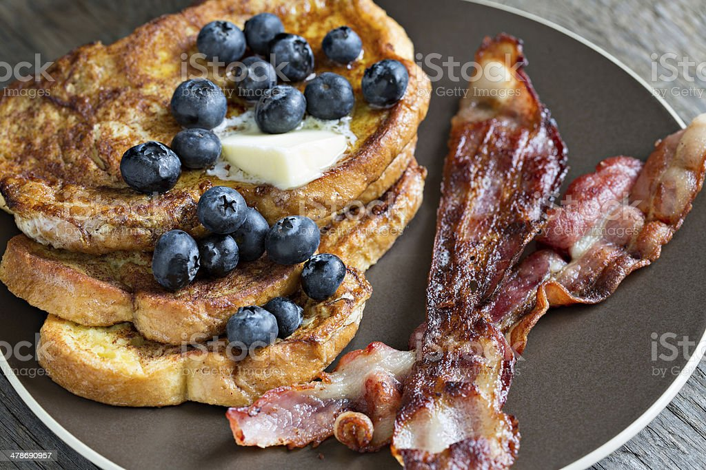 Bacon And French Toast royalty-free stock photo