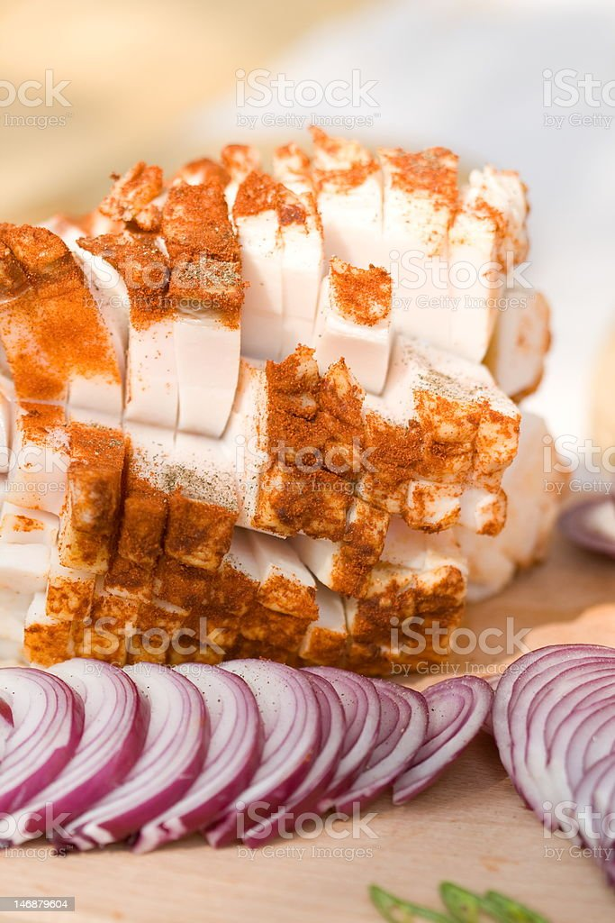 Bacon and onion royalty-free stock photo
