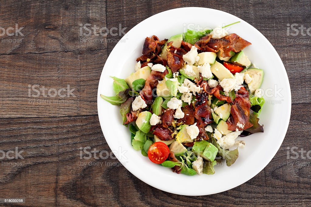 Bacon and Salad royalty-free stock photo
