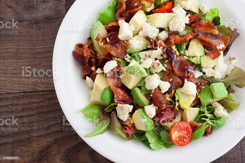 Bacon and Salad royalty-free stock photo