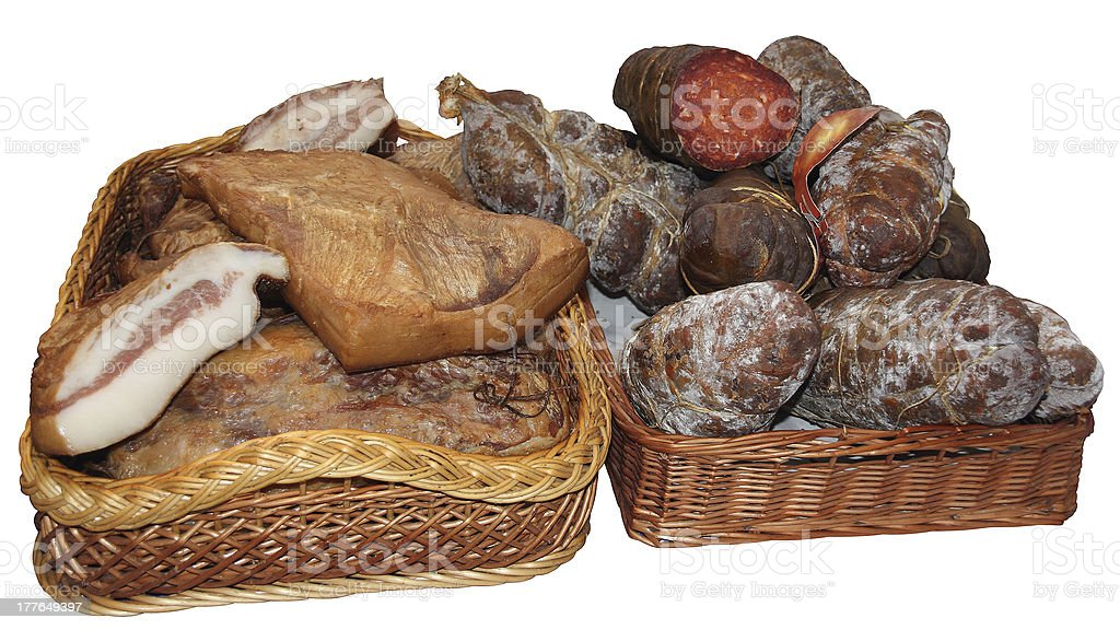 Bacon and sausage royalty-free stock photo