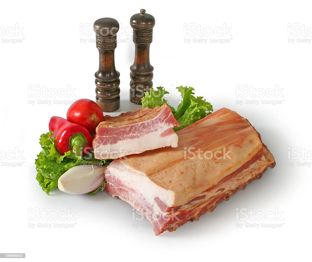 Bacon and vegetables royalty-free stock photo