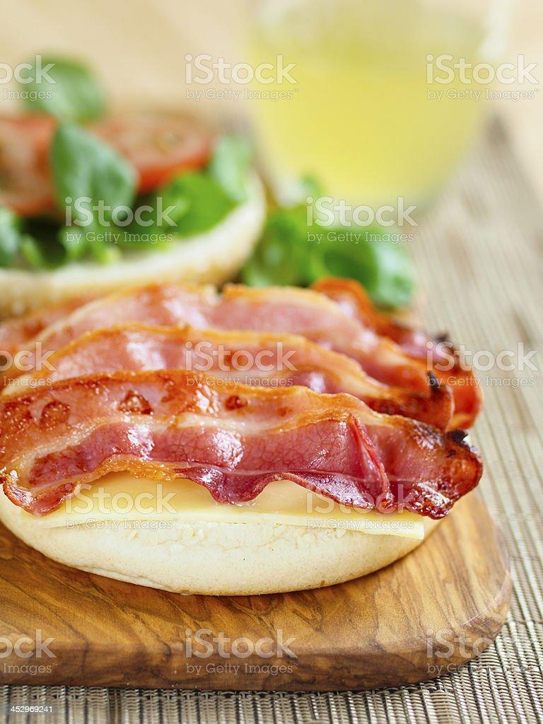 bacon baps royalty-free stock photo