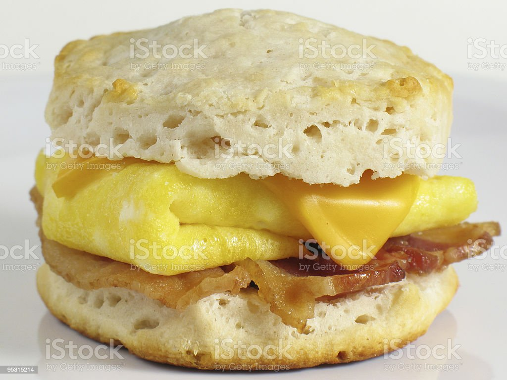 Bacon Biscuit Sandwich stock photo