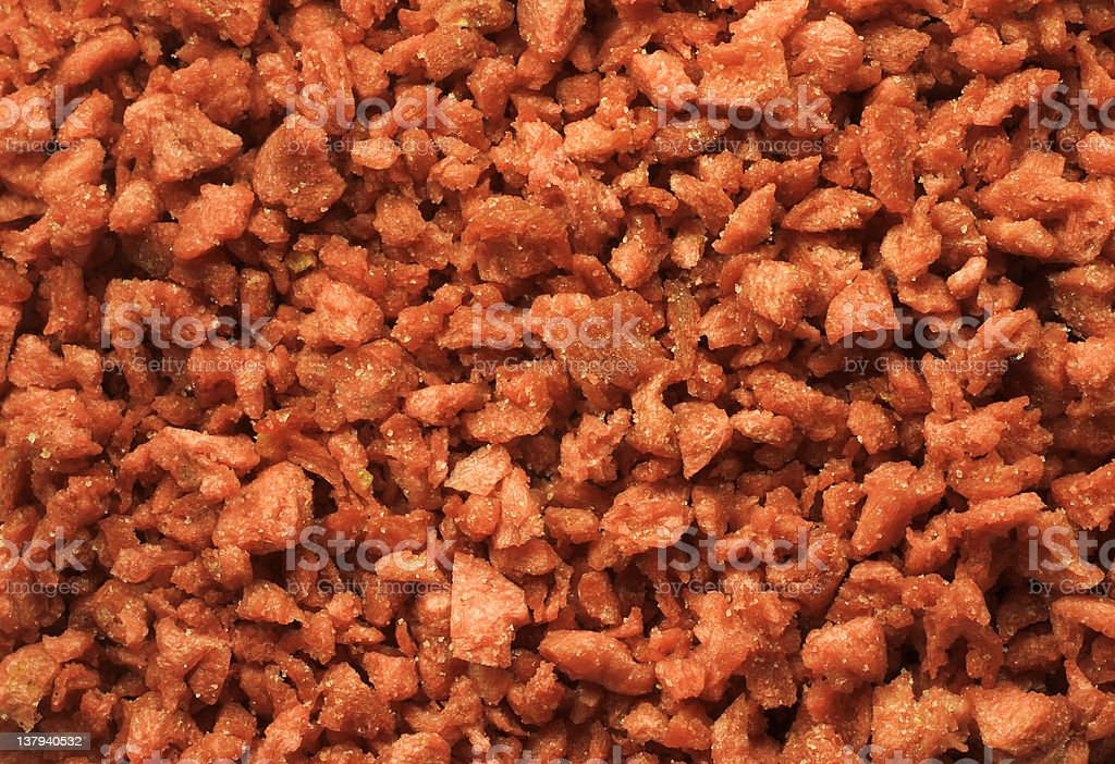 bacon bits closeup stock photo