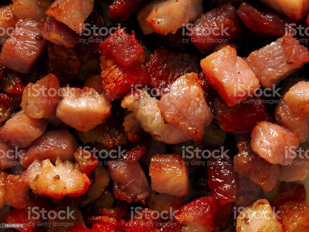 bacon bits stock photo