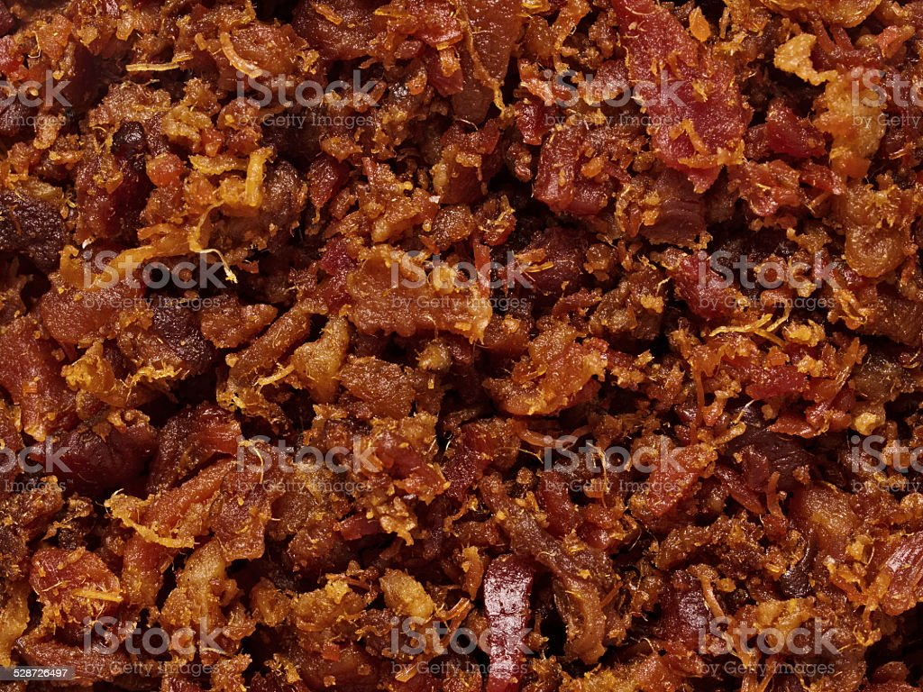 bacon bits texture background stock photo