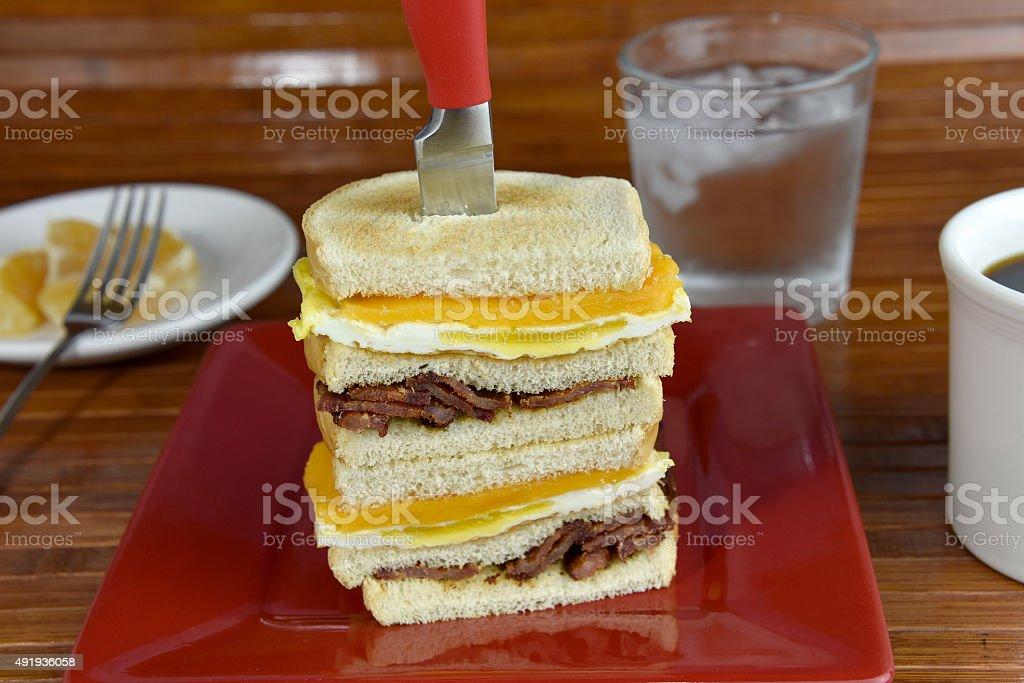 Bacon Breakfast Sandwich royalty-free stock photo