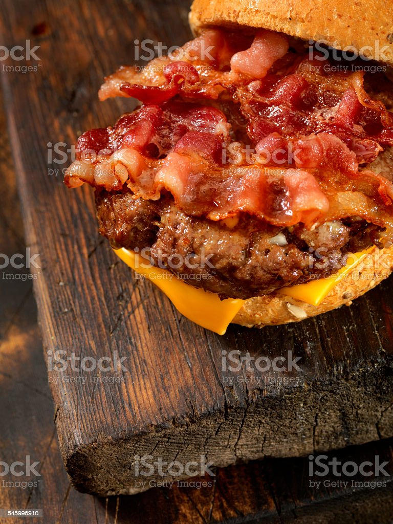 Bacon Cheese Burger stock photo