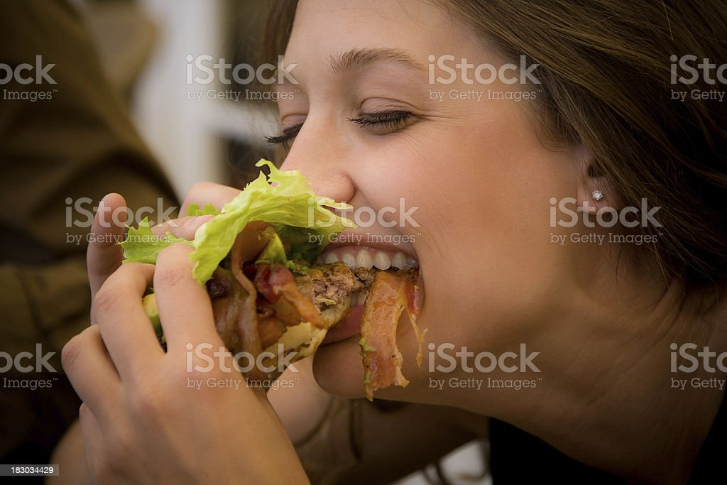 Bacon Cheeseburger Bite stock photo