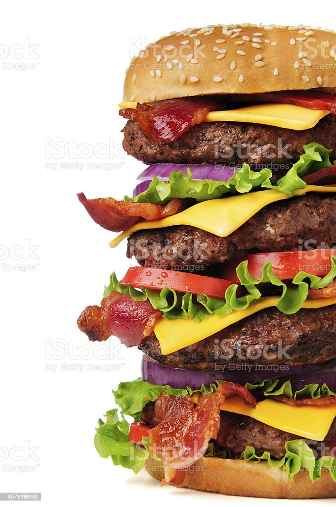 Bacon Cheeseburger stock photo