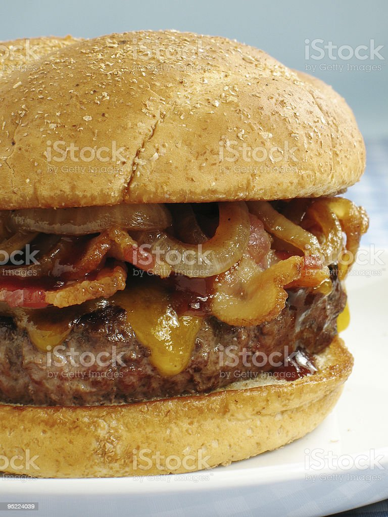 BBQ Bacon Cheeseburger stock photo