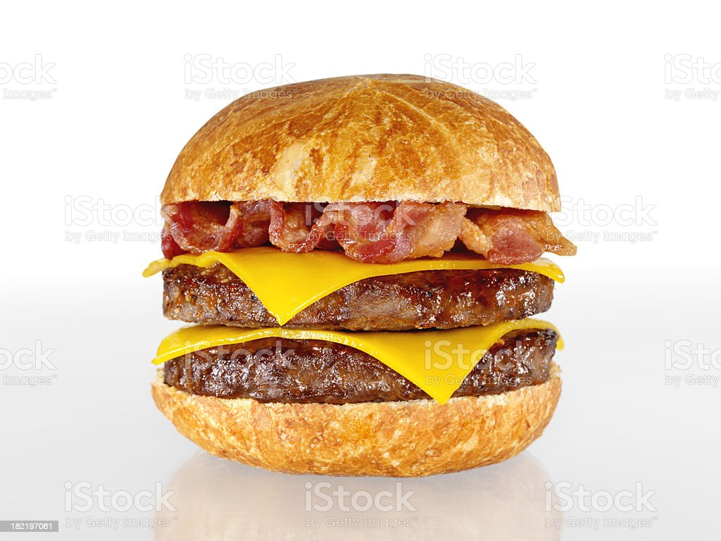 Bacon Double Cheeseburger stock photo