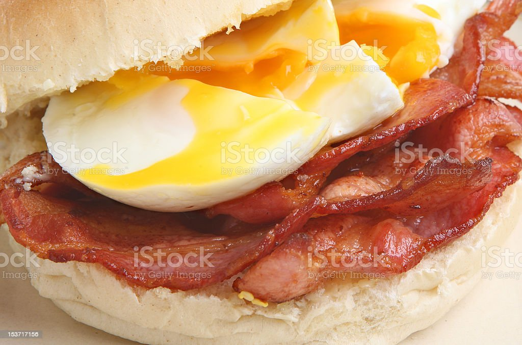 Bacon & Egg Bap or Roll royalty-free stock photo