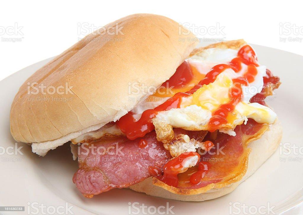 Bacon & Egg Breakfast Roll royalty-free stock photo