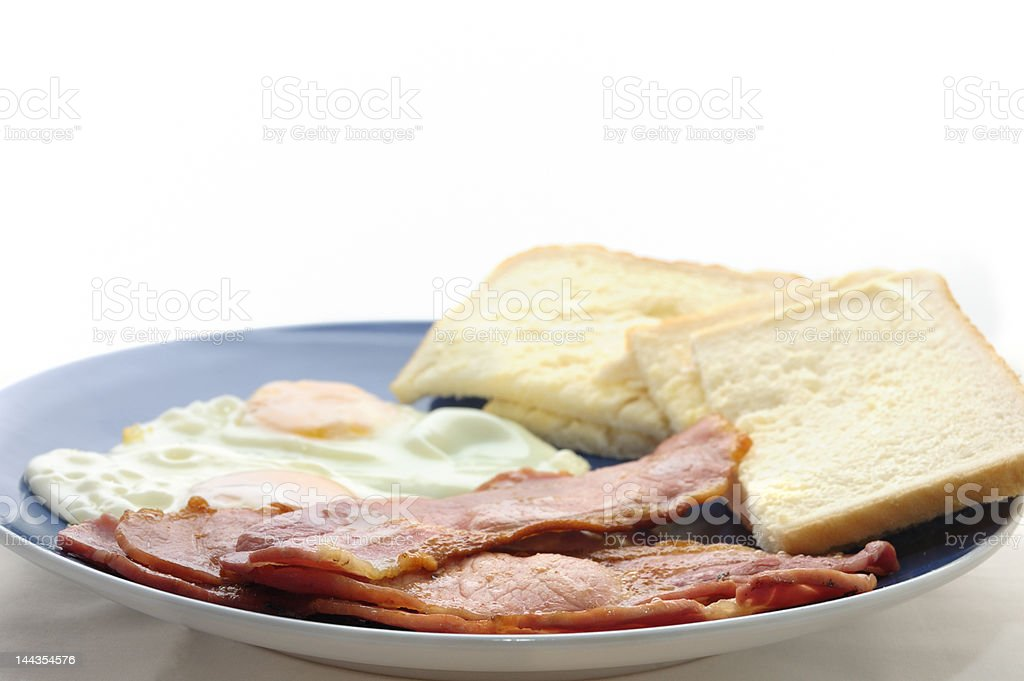 Bacon Egg Buttered Bread stock photo