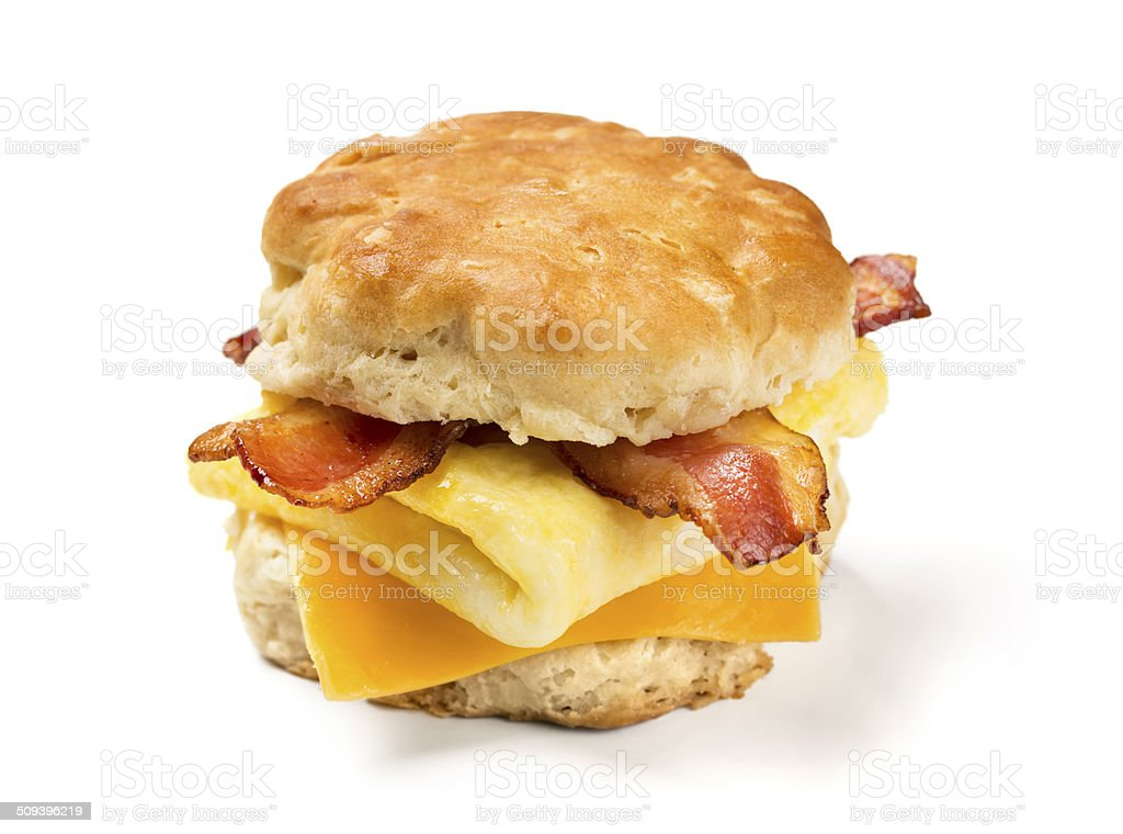 Bacon Egg & Cheese Biscuit stock photo