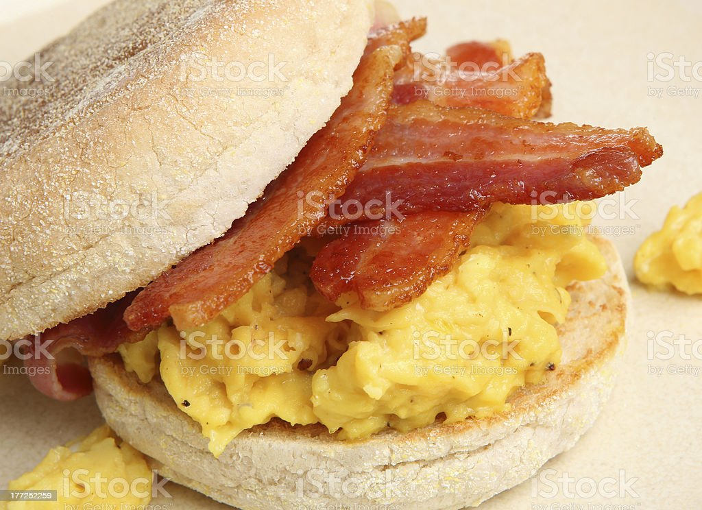 Bacon & Egg Muffin stock photo
