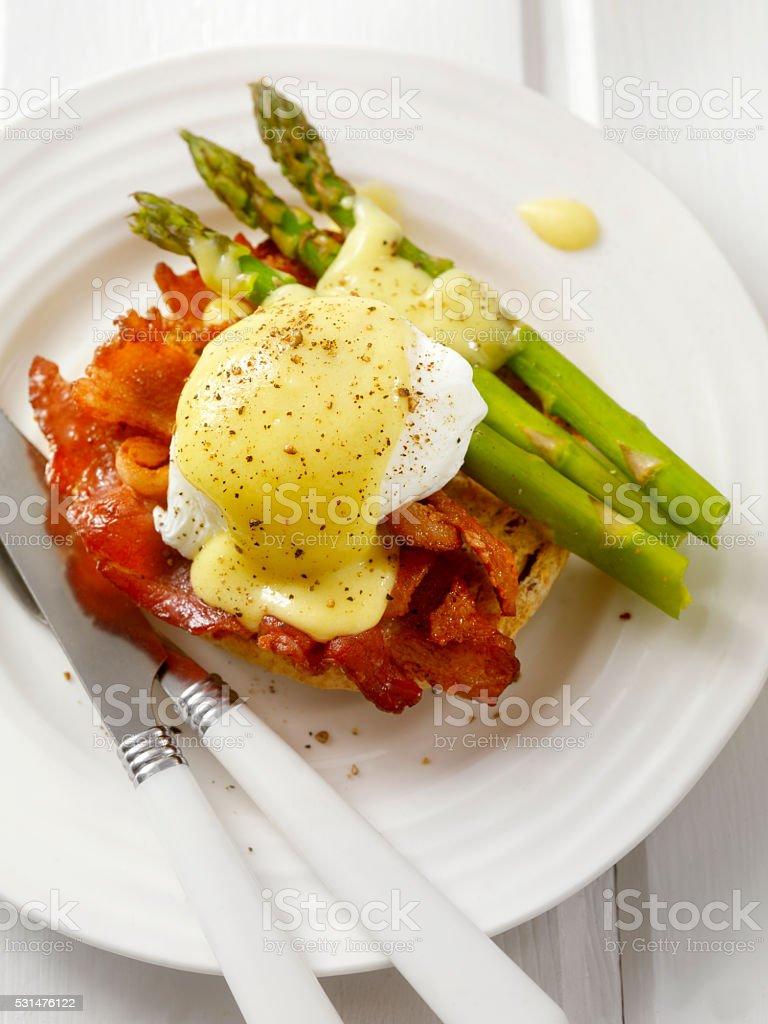 Bacon Eggs Benedict stock photo