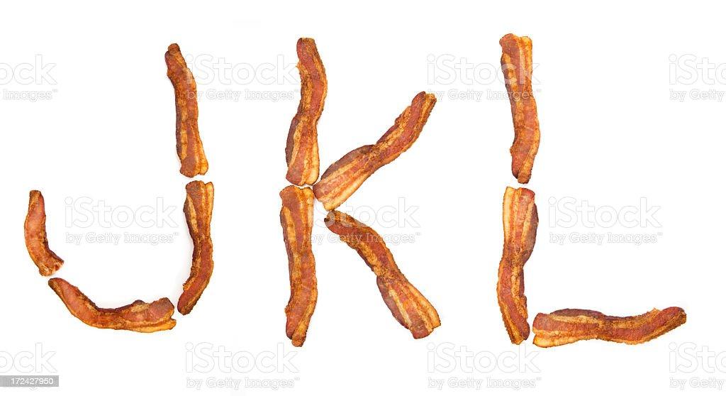 Bacon JKL royalty-free stock photo
