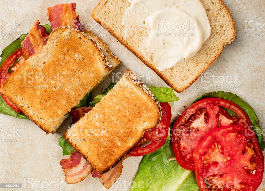 Bacon, Lettuce and Tomato stock photo