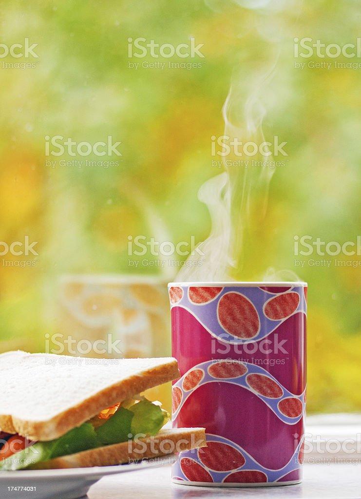 Bacon Lettuce and tomato preparation stock photo