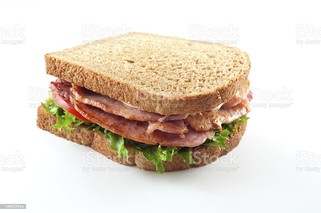 Bacon lettuce and tomato sandwich royalty-free stock photo