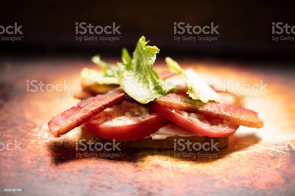 Bacon, Lettuce and Tomato Sandwich stock photo